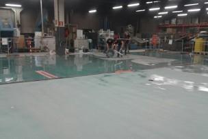 Aangieten vloer voor plaatsing nieuwe machine