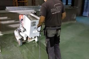 Gekleurd betonterrazzo