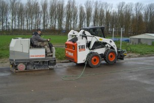 Schaven asfalt 3D atlethiek piste