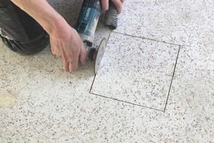 Ook vloerdozen installeren na plaatsing epoxyterrazzo